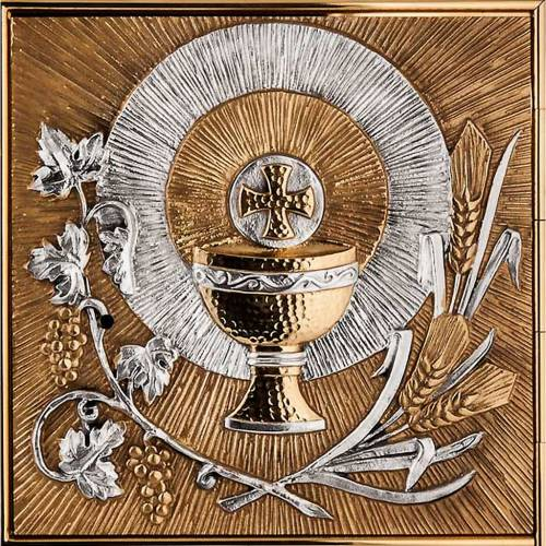 Tabernacle for wall with eucharistic symbols s4