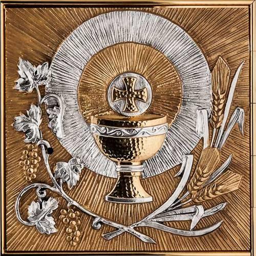 Tabernacolo a muro simboli eucaristici s4