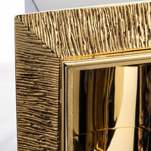Tabernacolo da muro ottone dorato fuso Gesù s5