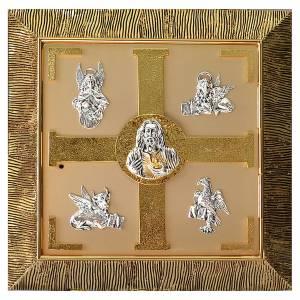 Tabernacolo parete Evangelisti ottone dorato s1
