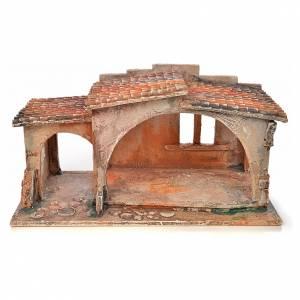 Étable avec toit en tuiles crèche Fontanini 12 cm s1