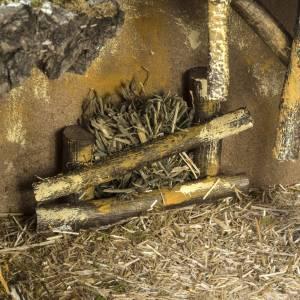 Étable crèche Noel sur base bois 30x42x18 cm s5