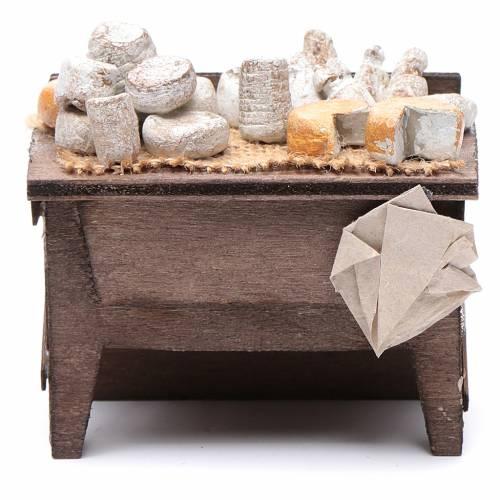 Table des fromages crèche napolitaine 7x8,5x6 cm s1