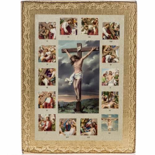 Tableau Chemin de Croix avec crucifixion s1