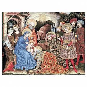 Tapisseries religieuses: Tapisserie Adoration des Mages de Gentile da Fabriano 105x130 cm