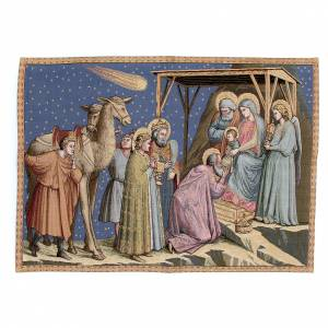 Tapisseries religieuses: Tapisserie Adoration Giotto 65x90 cm