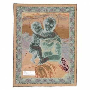 Tapisseries religieuses: Tapisserie avec La Petite Madone Cowper de Raphaël 65x50 cm