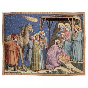Tapisseries religieuses: Tapisserie inspirée Adoration de Giotto 95x130 cm