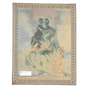 Tapisseries religieuses: Tapisserie Vierge du Rosaire de Bartolomé Esteban Pérez Murillo 65x50 cm