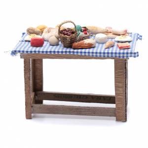 Tavolo con cibo 15x15x10 cm presepe Napoli fai da te s4