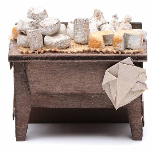 Tavolo dei formaggi presepe napoletano 7X8,5X6 cm s1