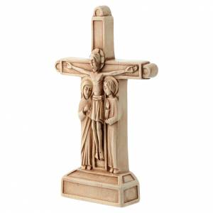 Stone crucifixes: The Crucifixion in ivory colour