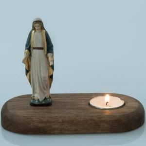 The Immaculate Virgin with votive candle s3