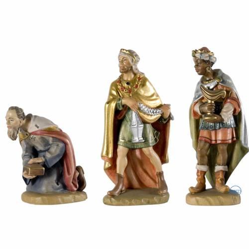 Three wise Kings wooden figurine 12cm, Val Gardena Model s1