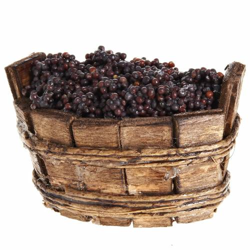 Tinozza ovale uva nera presepe Napoli s2