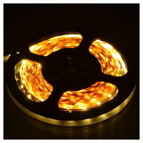 Tiras 5 m luces de Navidad 300 LED blanco cálido adhesivas y flexibles para interior s2