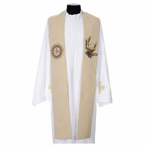 Étole calice hostie IHS polyester coton lurex s4