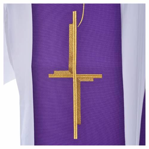 Étole en polyester avec croix s6