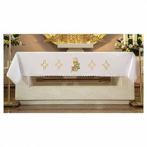 Tovaglie da altare: Tovaglia per altare 165x300 cm uva pane vino
