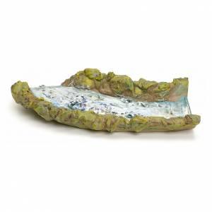 Tratto di ruscello presepe in resina cm 27.5x14x4 s2