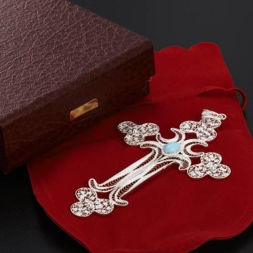Trefoil cross pendant in 800 silver felegree 12,7g s7