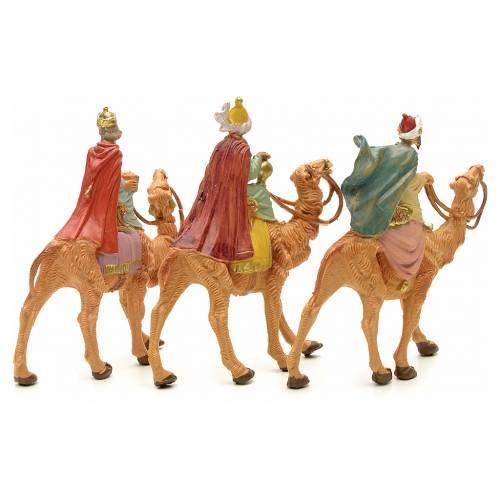 Tres Reyes Magos en camello 6,5 cm Fontanini s2