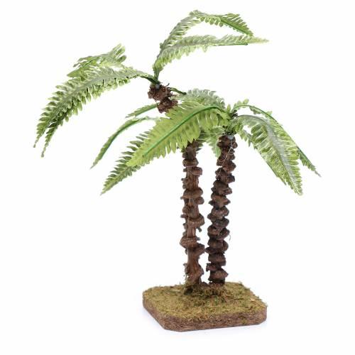 Tripla palma su base unica - foglie verdi modellabili s3