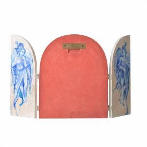 Triptyque à volets Vierge à l'Enfant artiste Mario Eremita s3