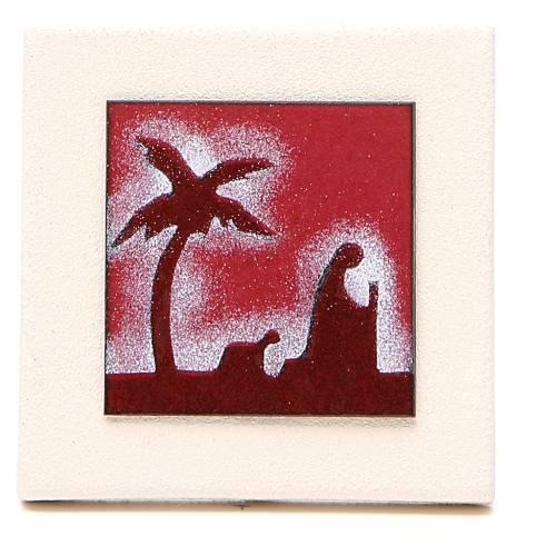 Triptyque cadres rouges argile Centre Ave 9,8 cm s3
