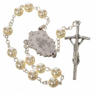Rosaires de dévotion: Trisagio Idente blanc croix pastorale médaille Miraculeuse