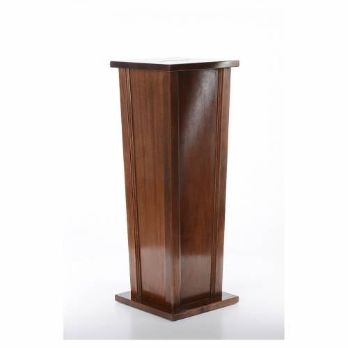 Tronc d'église en bois 96x35x35 cm s3