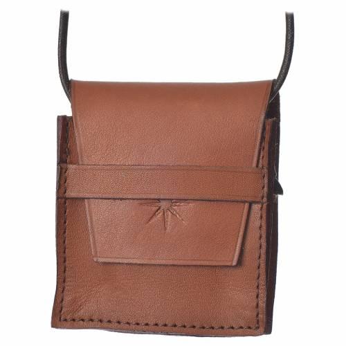 Étui à custode marron cuir véritable Bethléem pour custode 5,5 cm s1