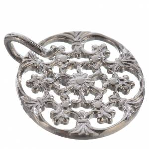 Tunic clasp, round, silver-plated s2