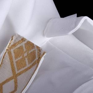 Vestidos comunión: Túnica primera comunión escapulario borde dorado