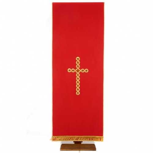 Twisted cross pulpit cover, polyester s4