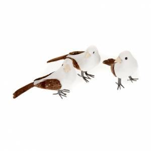 Uccellini presepe confezione 3 pz 10 cm s1