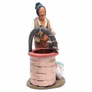 Presepe Terracotta Deruta: Uomo al pozzo per presepe 30 cm terracotta Deruta