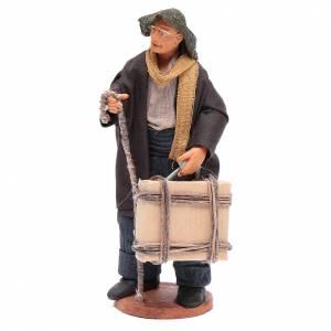 Uomo con valigia di 12 cm presepe napoletano s1