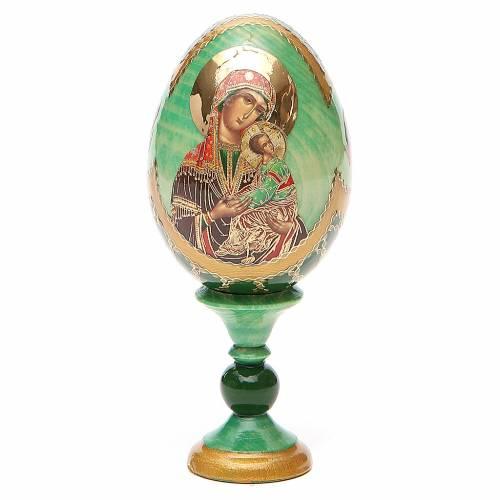 Uovo icona russa découpage Passionale h tot. 13 cm stile Fabergé s1