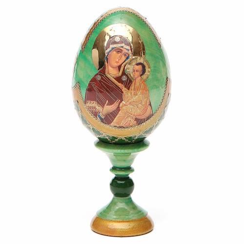 Uovo icona Russa Tikhvinskaya h tot. 13 cm stile Fabergé s1