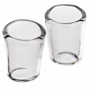 Vaso de cristal para belén 1,3x1cm, 2 piezas s1