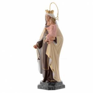 Vergine del Carmelo 20 cm pasta di legno dec. fine s3
