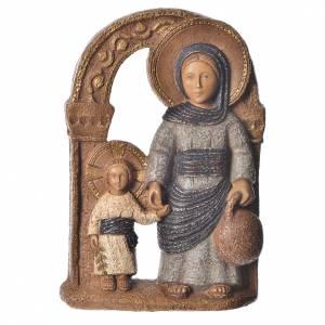 Bassorilievi pietra: Vergine di Nazareth blu 35 cm pietra Bethléem