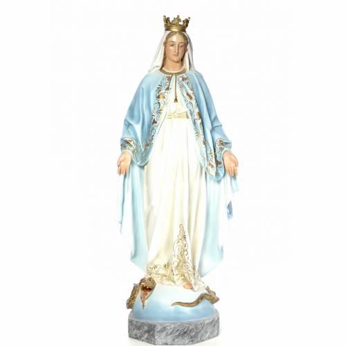 Vergine Miracolosa 140 cm pasta di legno dec. elegante s1