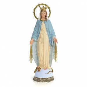 Vergine Miracolosa 60 cm pasta di legno dec. fine s1