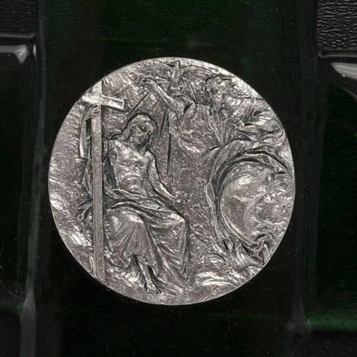 Croce vetro Murano smeraldo battesimo di Gesù s2