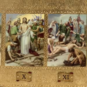 Vía Crucis: Vía Crucis 14 estaciones en 2 tablas madera