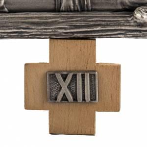 Vía Crucis 15 estaciones en bronce plateado s3