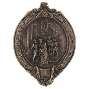 Vía Crucis 15 estaciones pasta de madera y resina s1