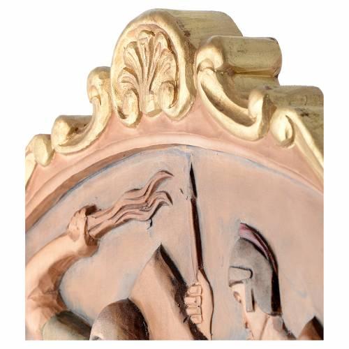 Via Crucis 15 Stazioni in rilievo legno colorato s16